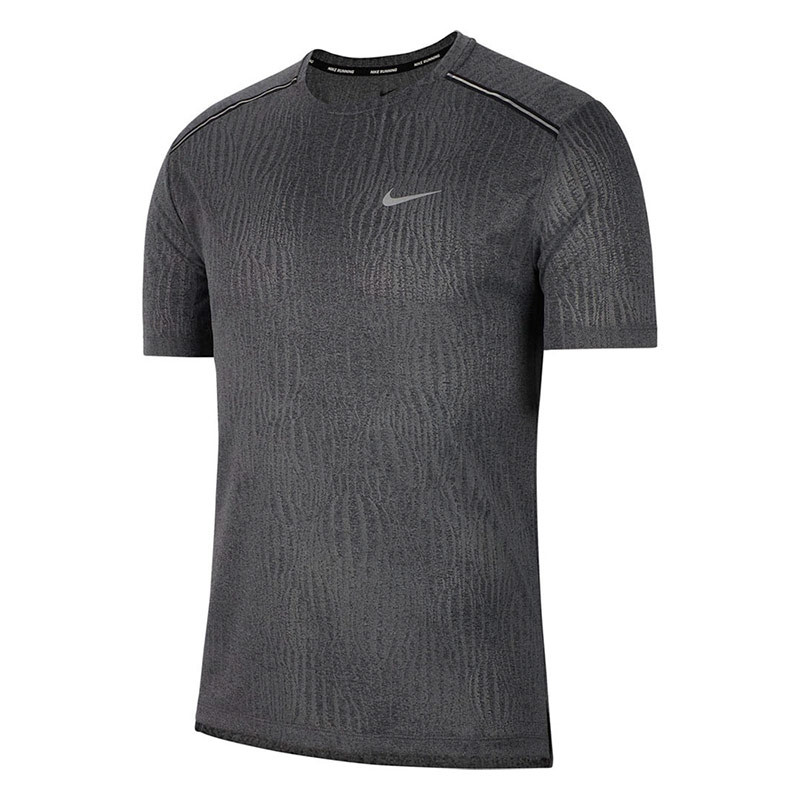 Nike Dri-Fit Miler Jacquard shirt heren antraciet