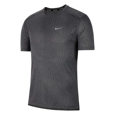 Nike Dri-Fit Miler Jacquard shirt heren antraciet 1